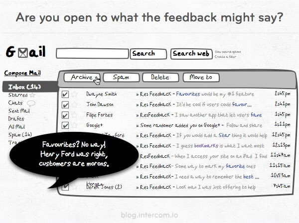 Are you open to what customer feedback might say?