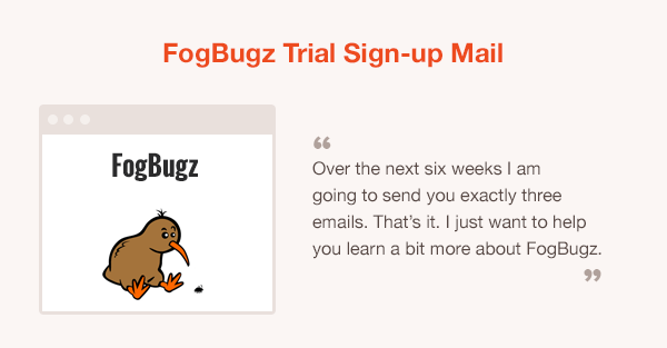 FogBugz onboarding email