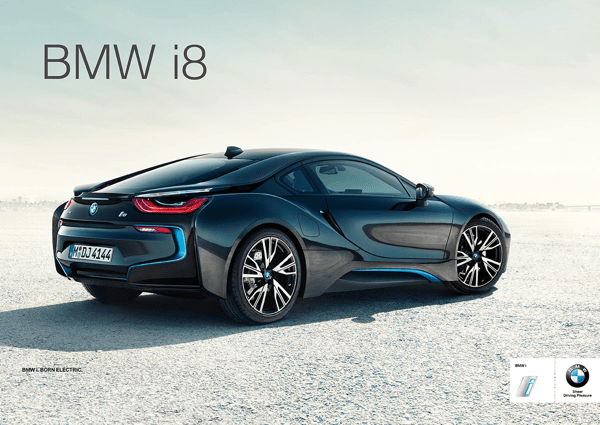 advert for the BMW i8 - the product is the ad