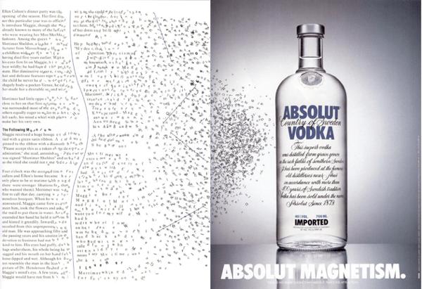 Absolut Vodka's Absolut magnetism ad