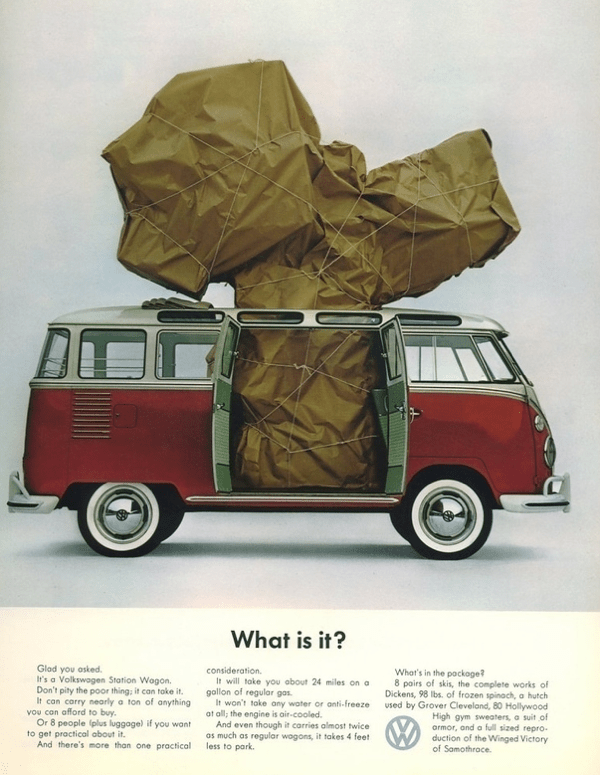 1960s ad for the Volkswagen station wagon