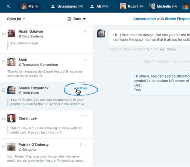 New Intercom features: quick close conversations