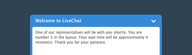 Live chat uses queues