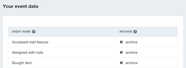Intercom - Event Archive example