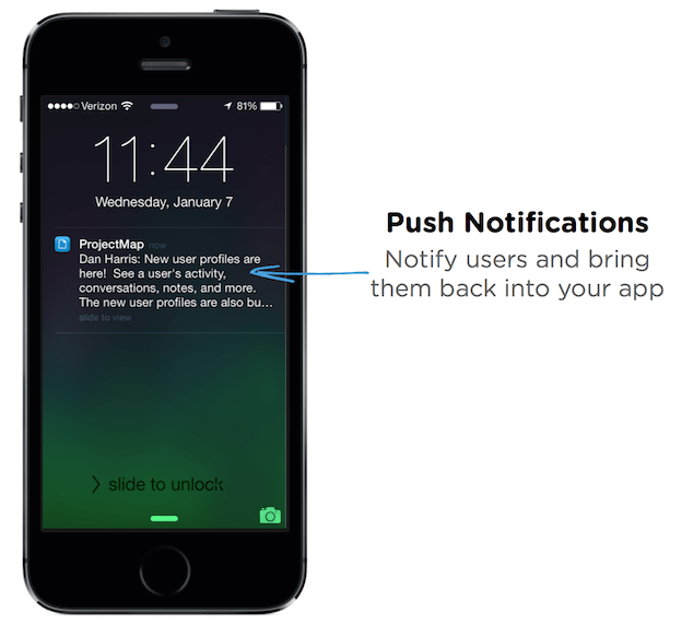 Push notification example