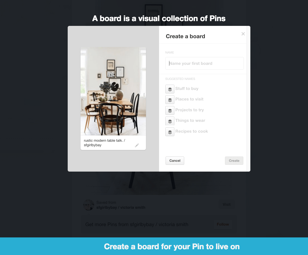Pinterest onboarding process tutorial