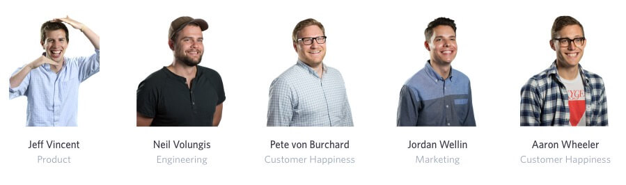 Wistia encourages staff to be themselves – even strking a pose on the staff profile page