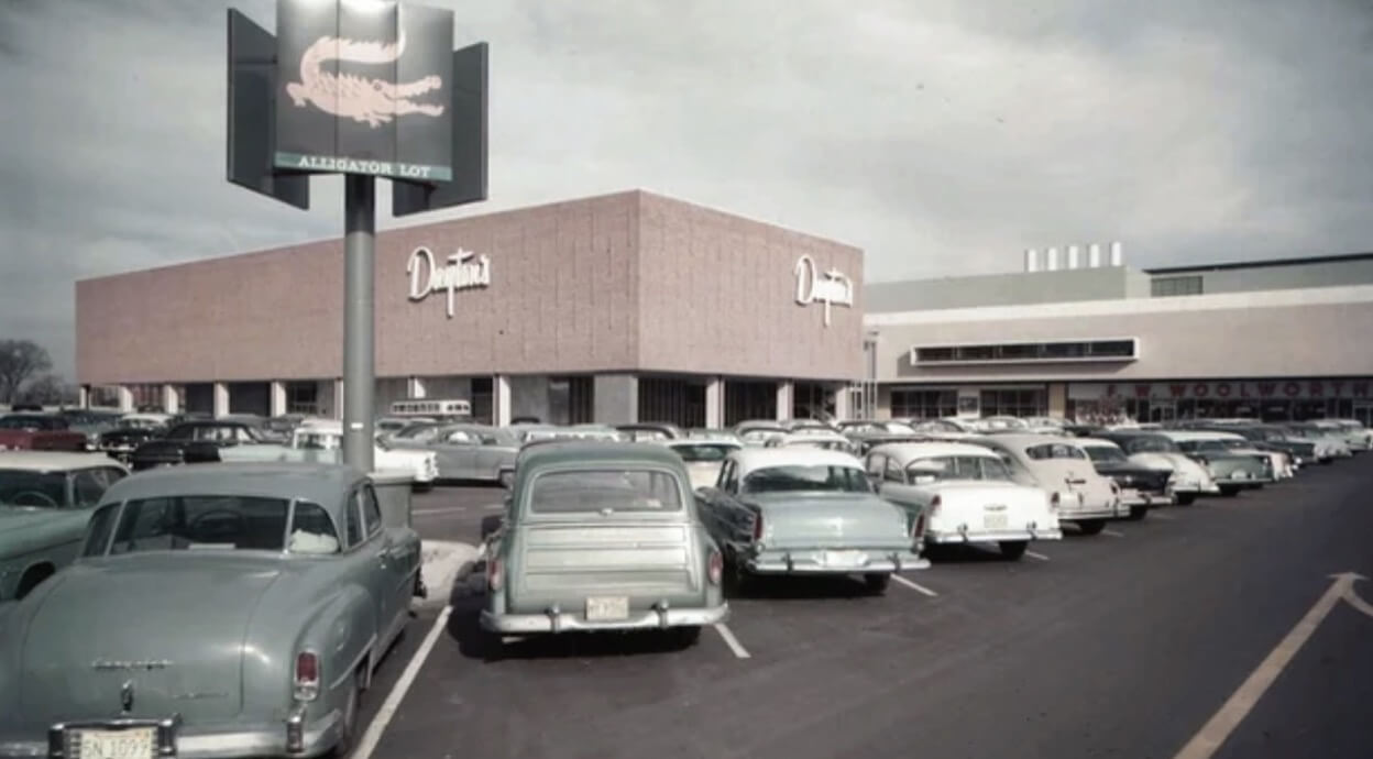 A Daytons shopping centre in the 1950s