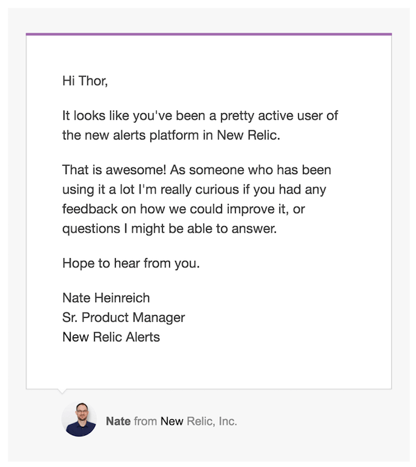 New Relic messaging