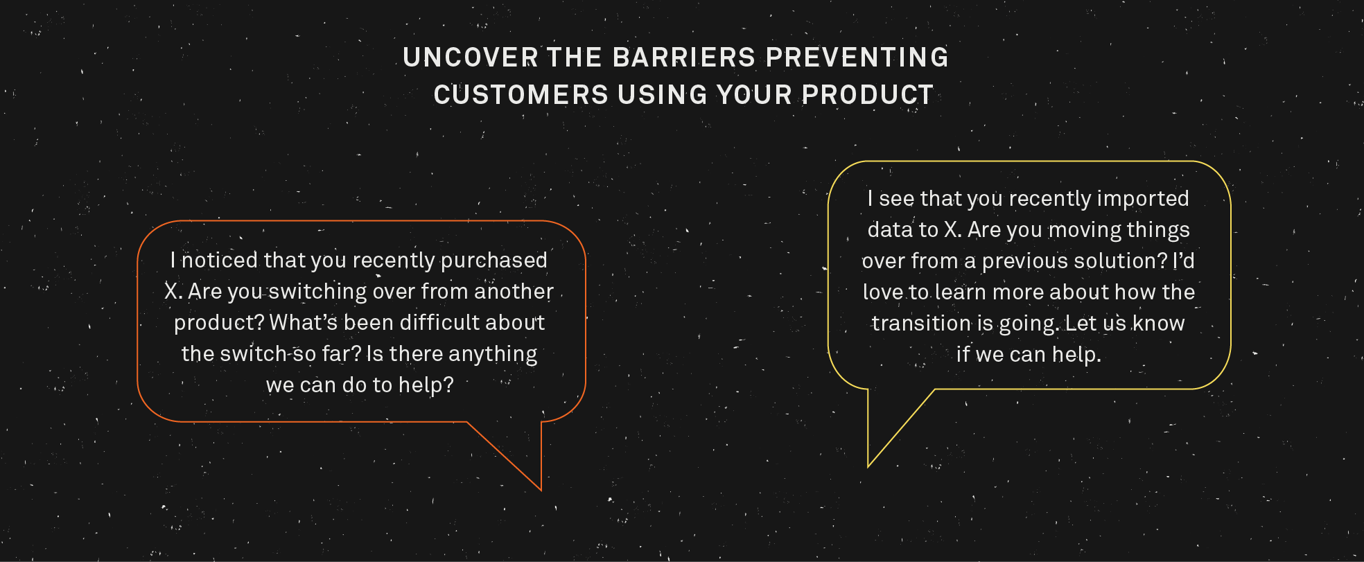 Uncover the barriers preventing customers from using your product