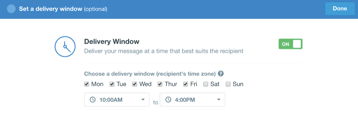 New delivery windows for push notifications