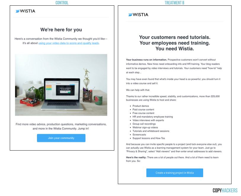 wistia onboarding email