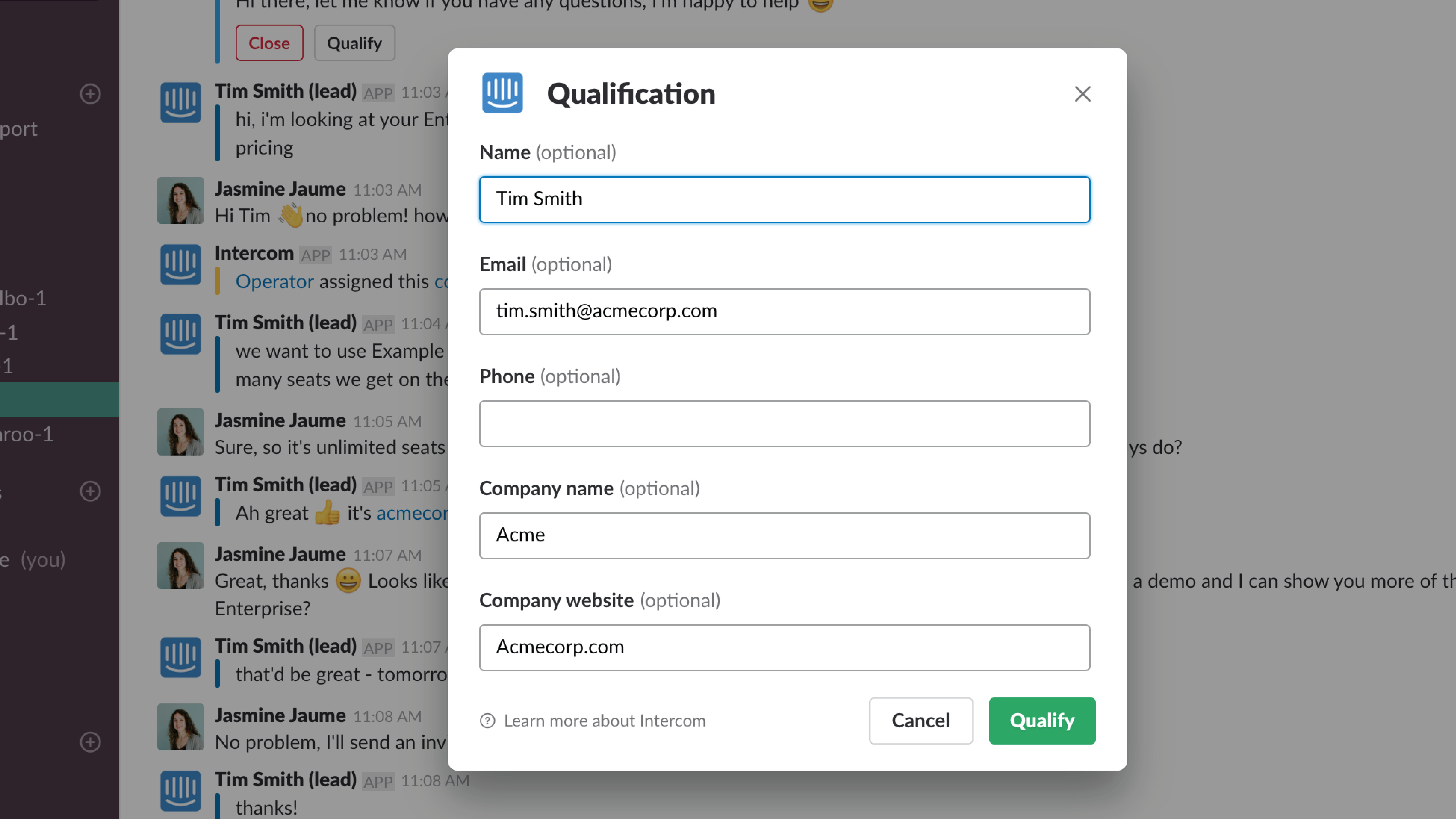 QUALIFY FROM SLACK