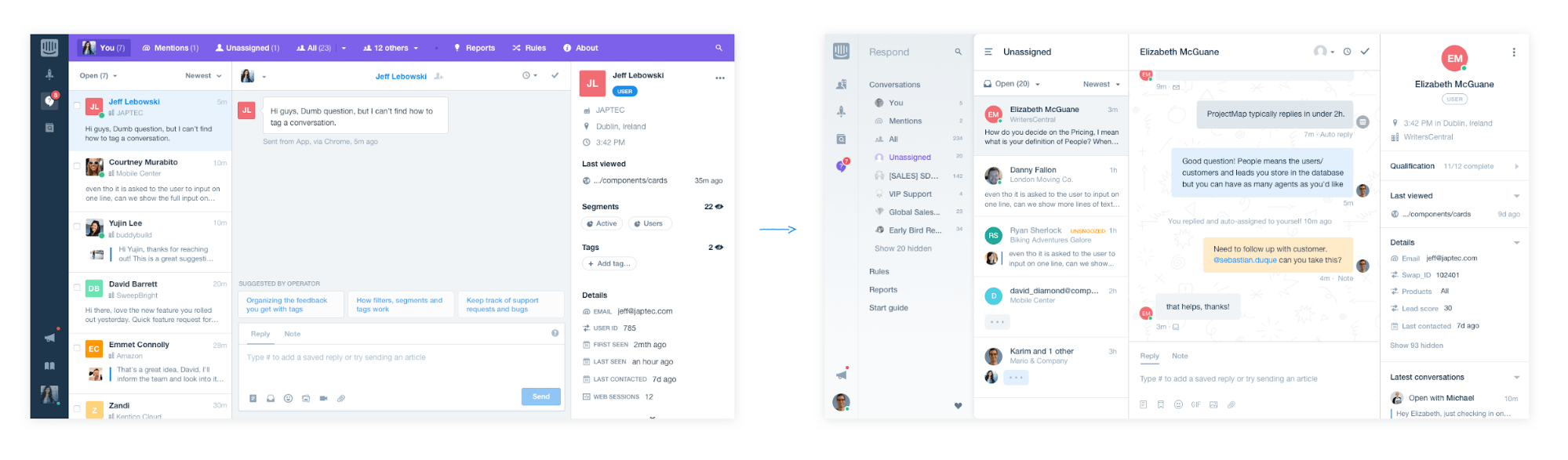 Inbox change