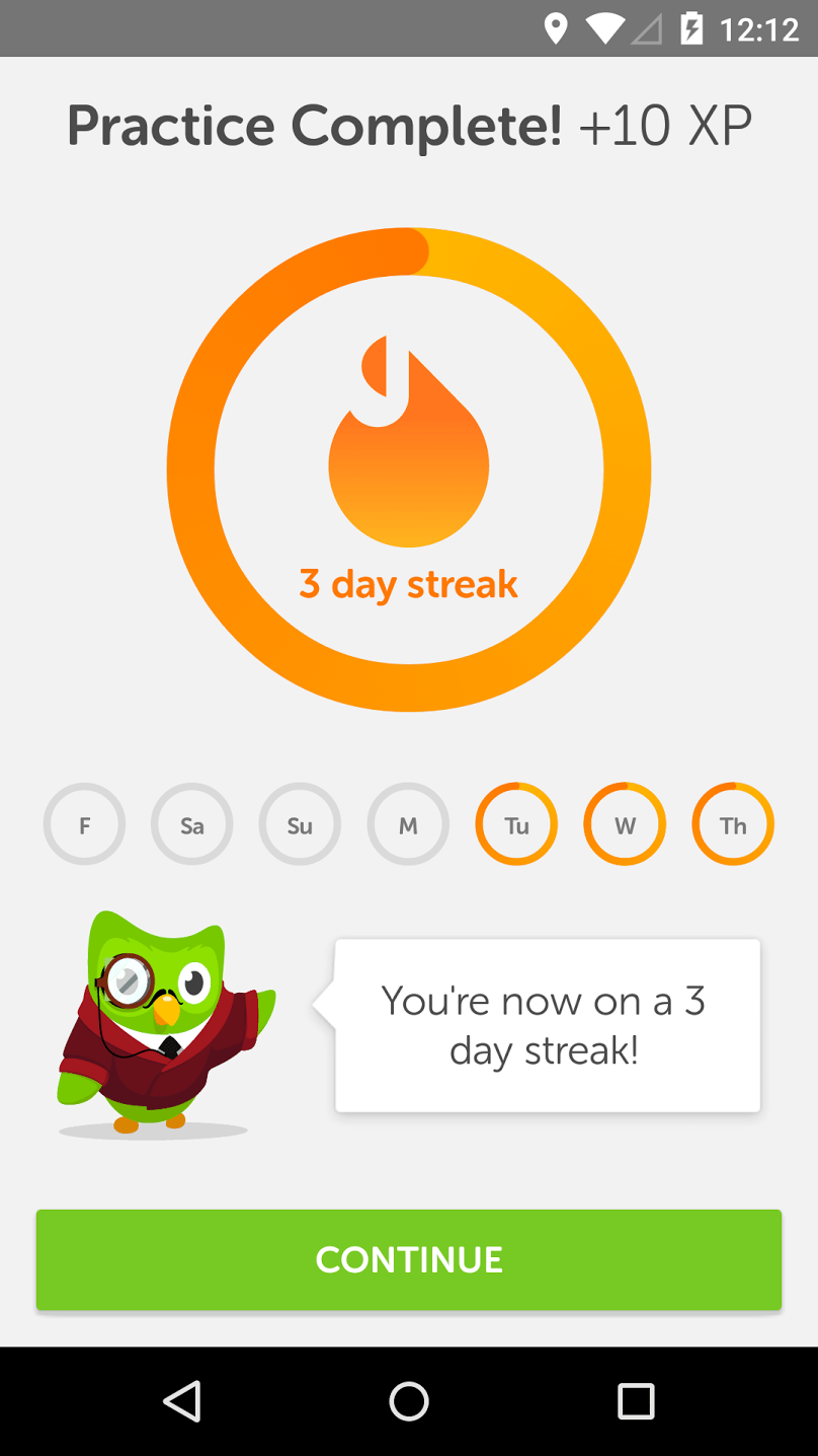Duolingo streak – retention tactic