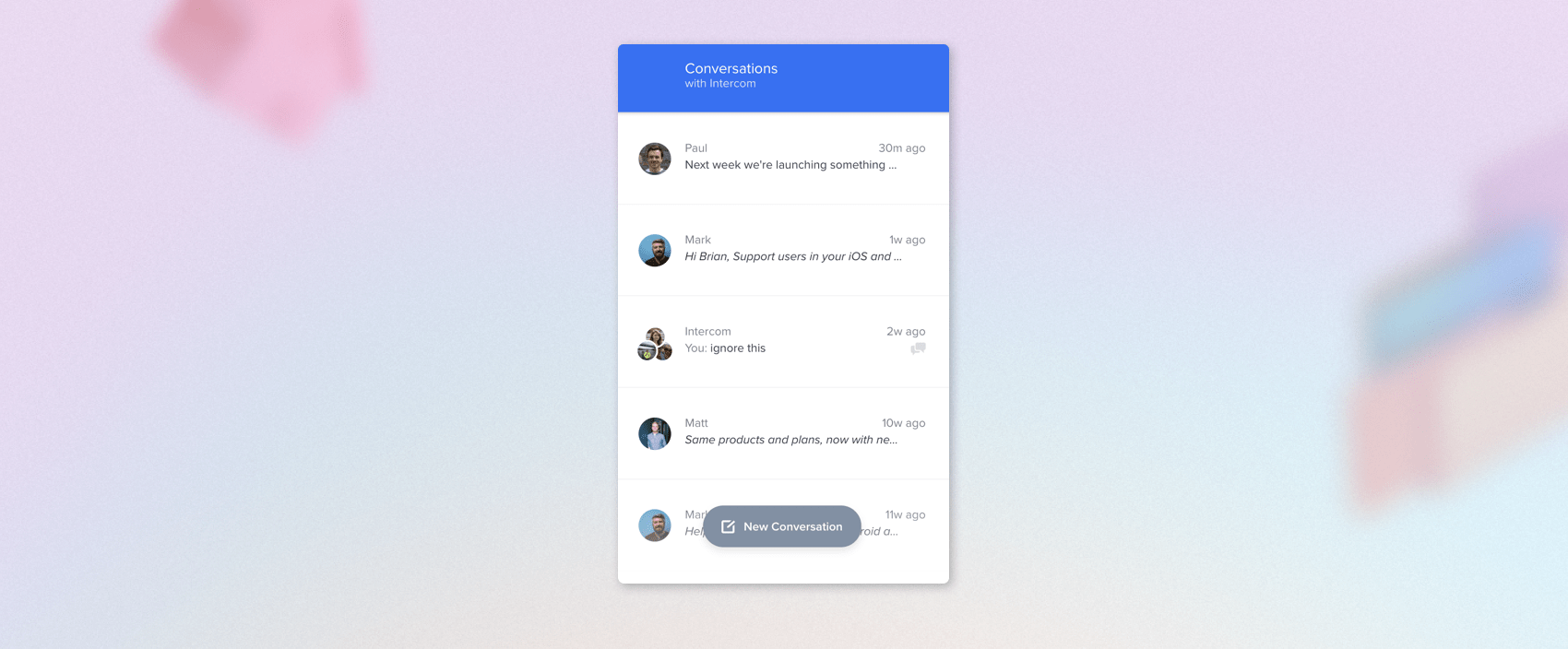 Intercom Messenger Home design