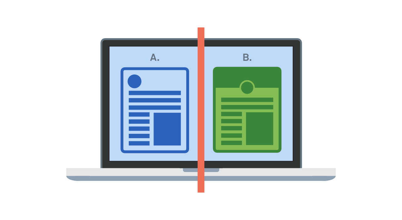 A/B testing on your webpage