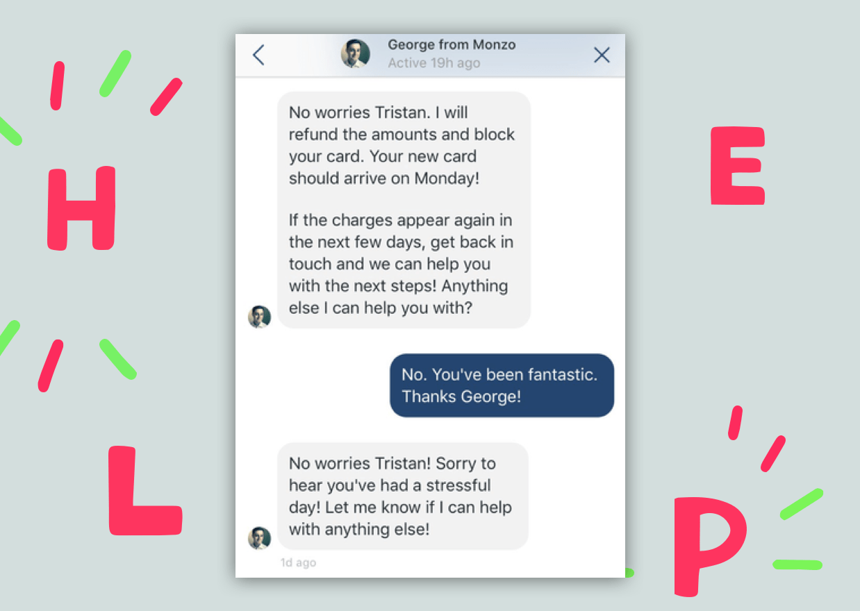 Monzo messaging support