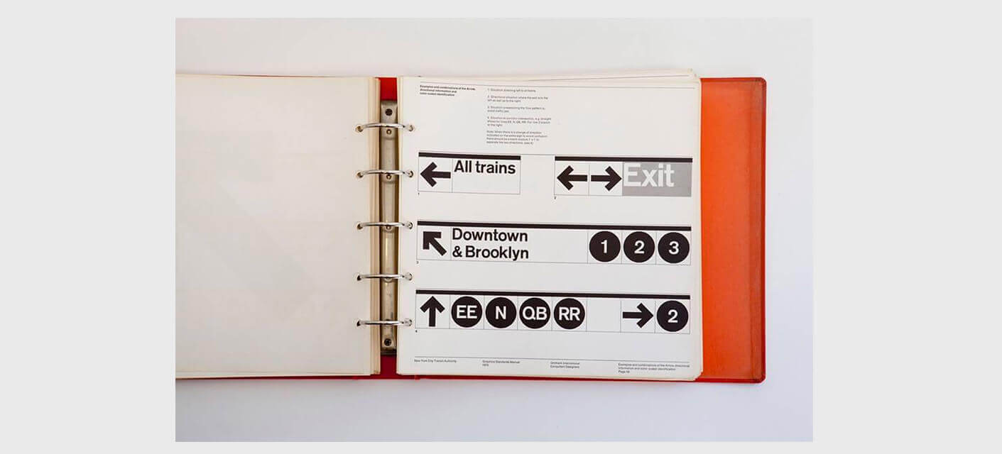 New York City Transit Authority Graphics Standards Manual by Massimo Vignelli and Bob Noorda, 1970